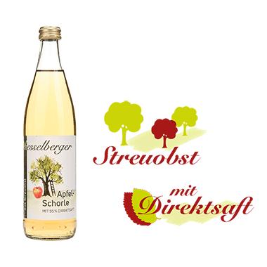 0,5 Liter Apfel-Schorle, klar