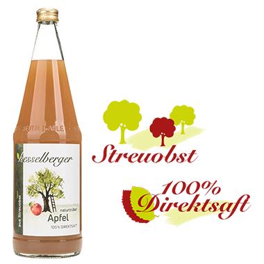 1 Liter Apfel-Direktsaft, natürtrüb, vegan