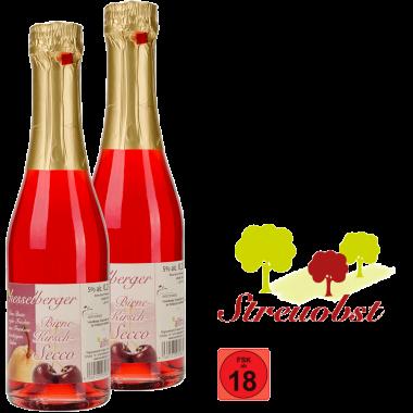 2 mal 0,2 Liter Birne-Kirsch-Secco
