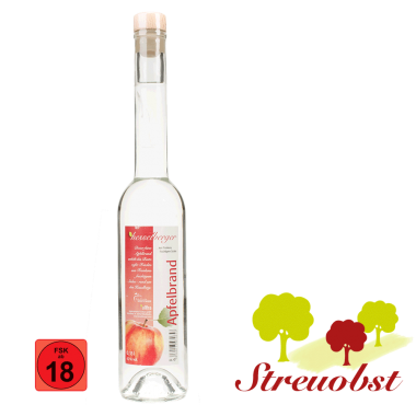 1 Flasche 0,35 Liter Apfelbrand aus Streuobstäpfeln