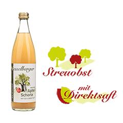 0,5 Liter Apfel-Schorle, natürtrüb, vegan