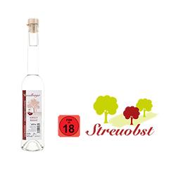 1 Flasche 0,35 Liter Kirschenbrand aus Streuobstkirschen